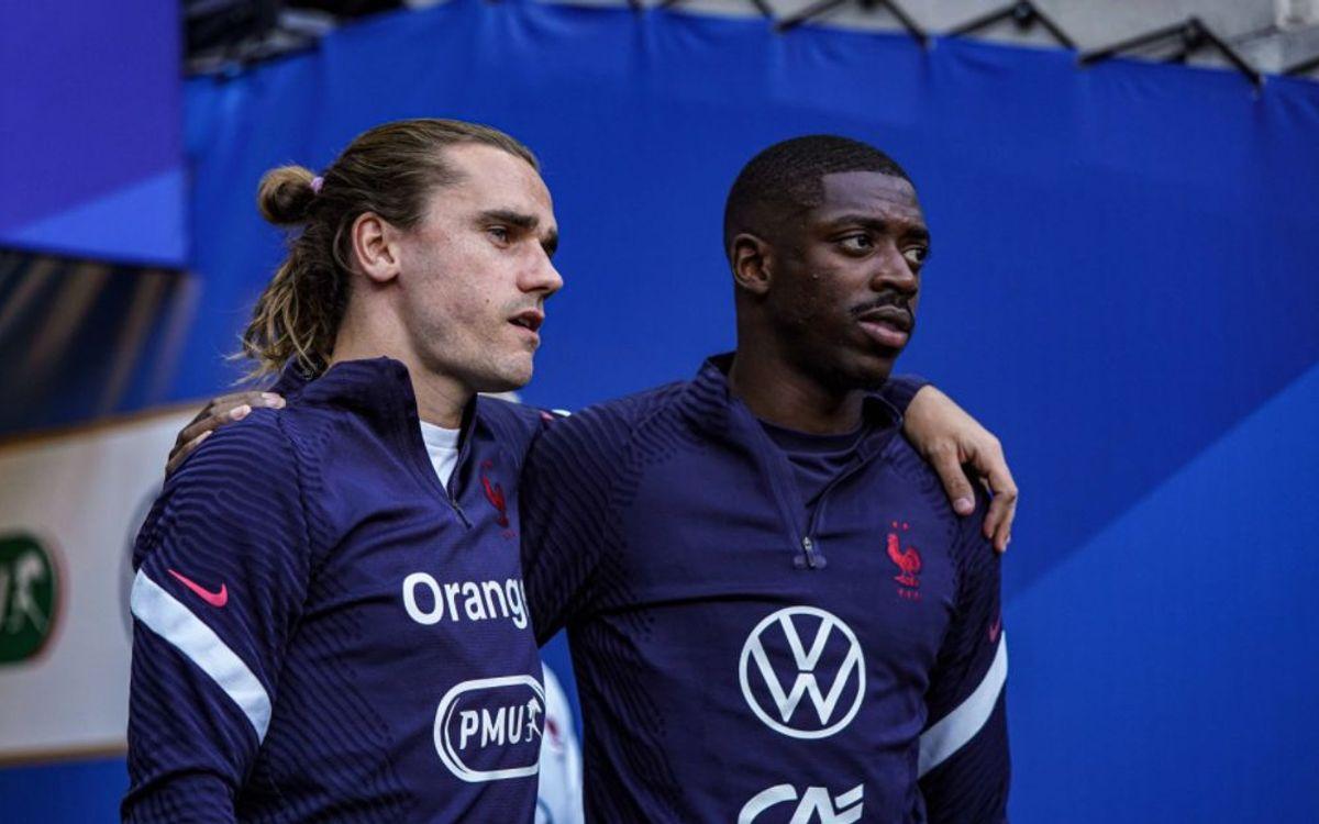 Griezmann Dembélé entrenament França
