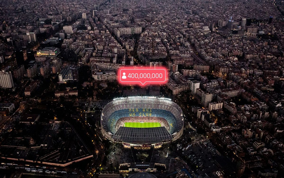 Barça surpasses 400 million followers on social media