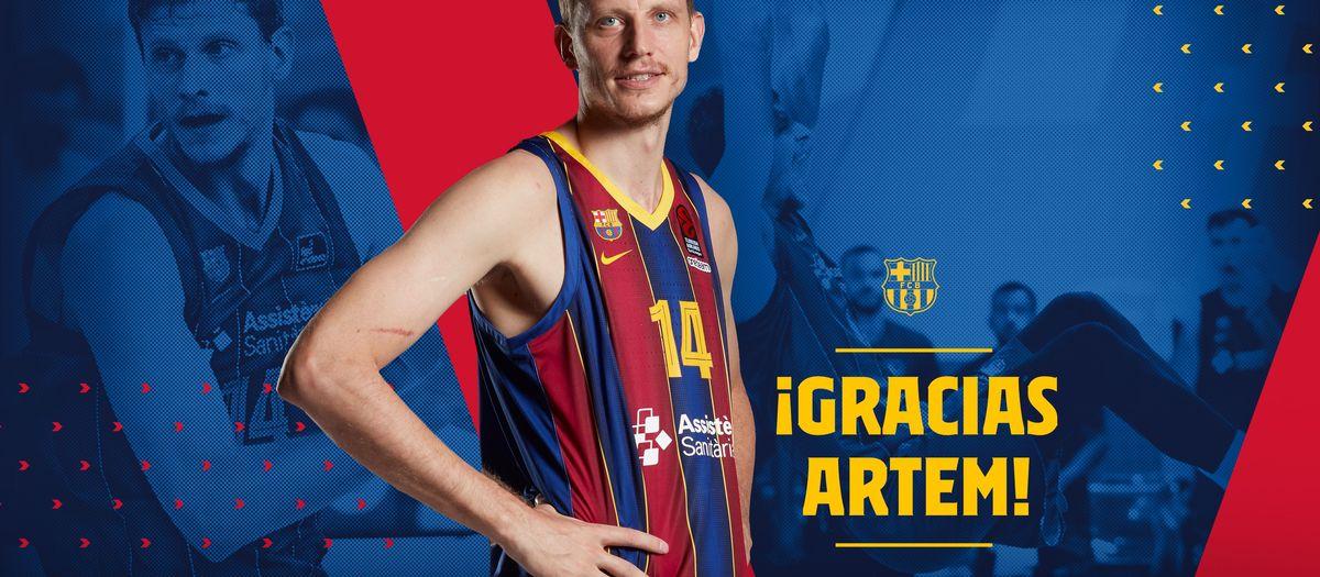 Artem Pustovyi cierra su etapa en el Barça