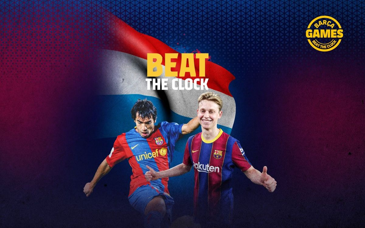 AGAINST THE CLOCK | Name the Dutch players that have been at Barça in the 21st century