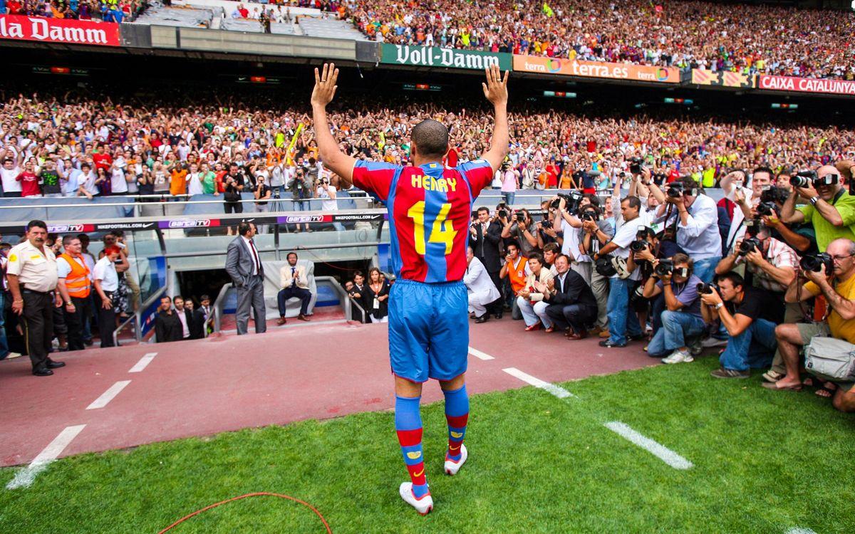 14 años de la presentación de Thierry Henry