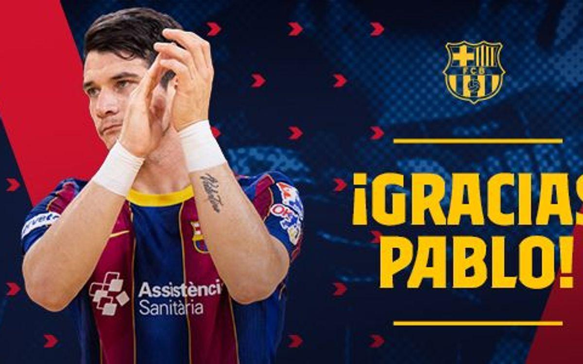 Pablo Álvarez leaves Barça after a decade in blaugrana