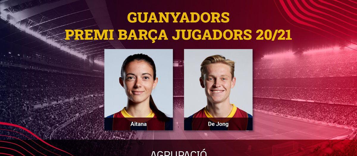 Frenkie de Jong i Aitana Bonmatí, Premi Barça Jugadors 20/21