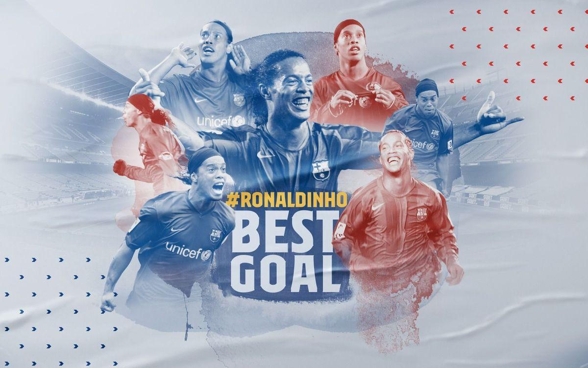 Ronaldinho's goal against Real Madrid voted his best for FC Barcelona