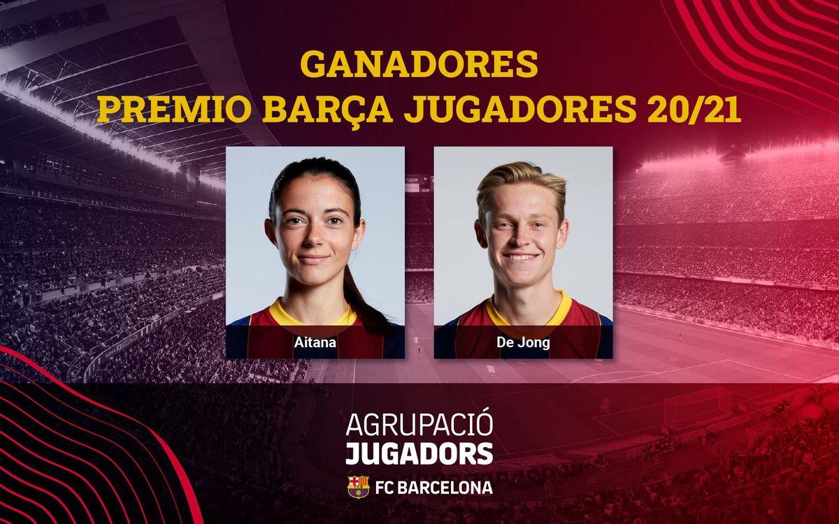 Frenkie de Jong y Aitana Bonmatí, Premio Barça Jugadores 20/21