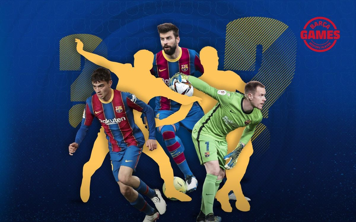 Which FC Barcelona player is hiding in the photo?