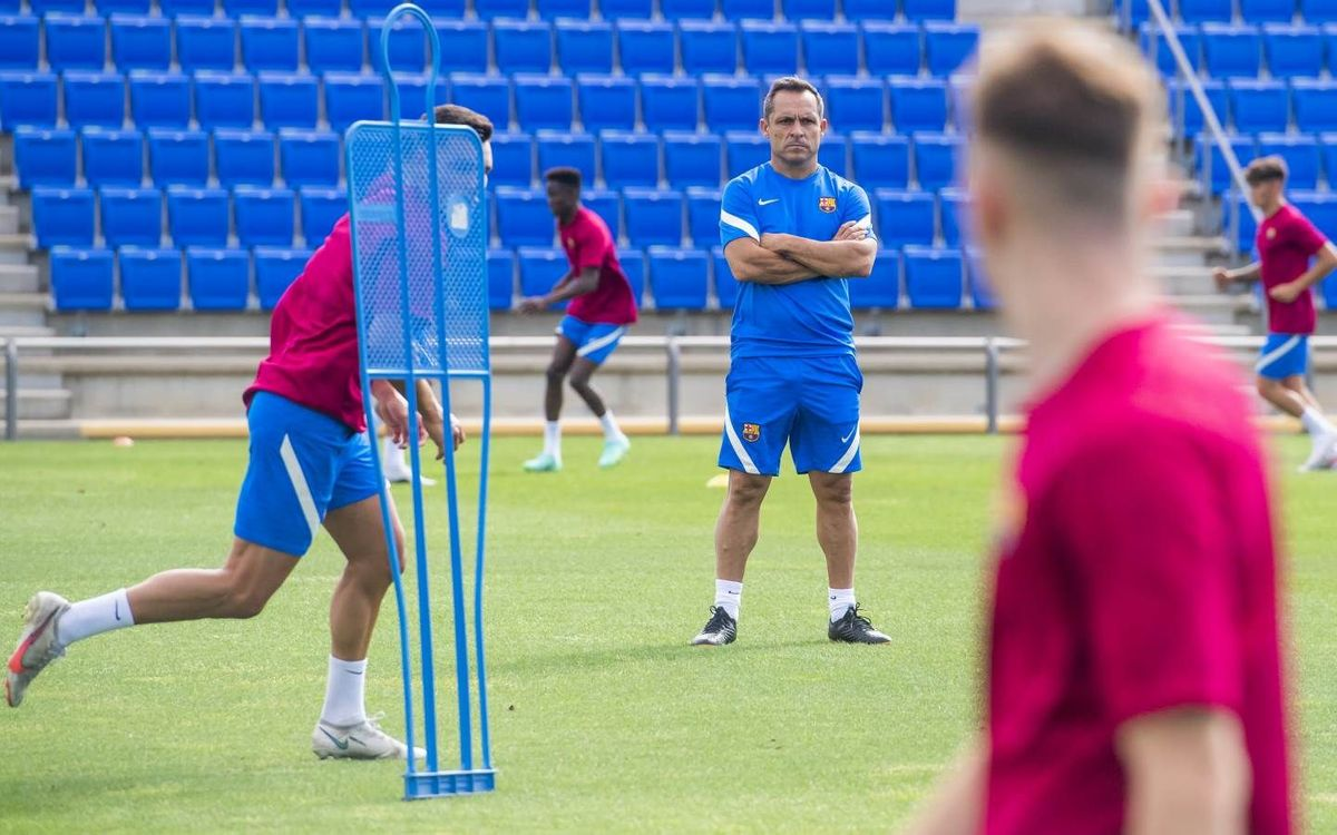 First training session for Barça B