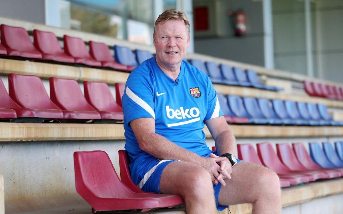 FC Barcelona coach Ronald Koeman looks ahead to the new season