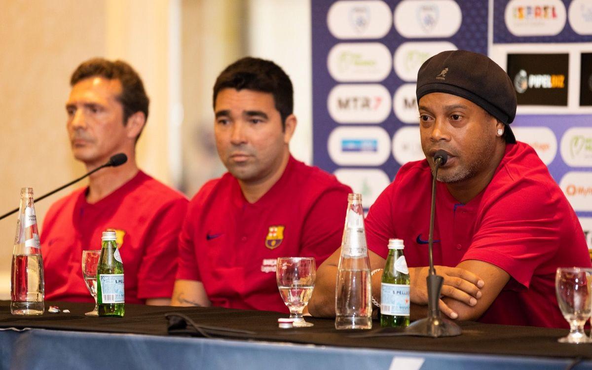 Ronaldinho, Deco i Amor, encantats de gaudir d'un Clàssic de llegendes
