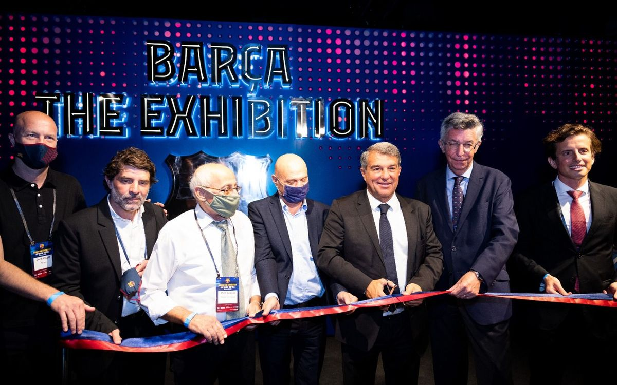 Joan Laporta attends the opening of 'Barça The Exhibition'