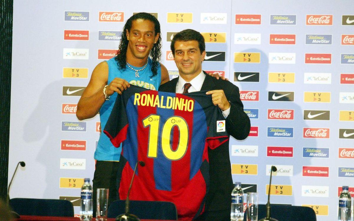 Se cumplen 18 años de la presentación de Ronaldinho