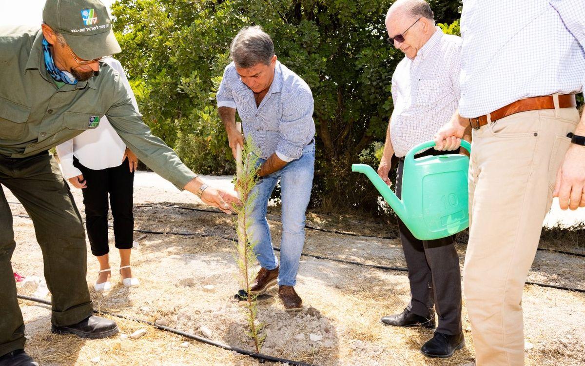 El president Laporta participa en la cerimònia de plantació d'un arbre als turons de Jerusalem