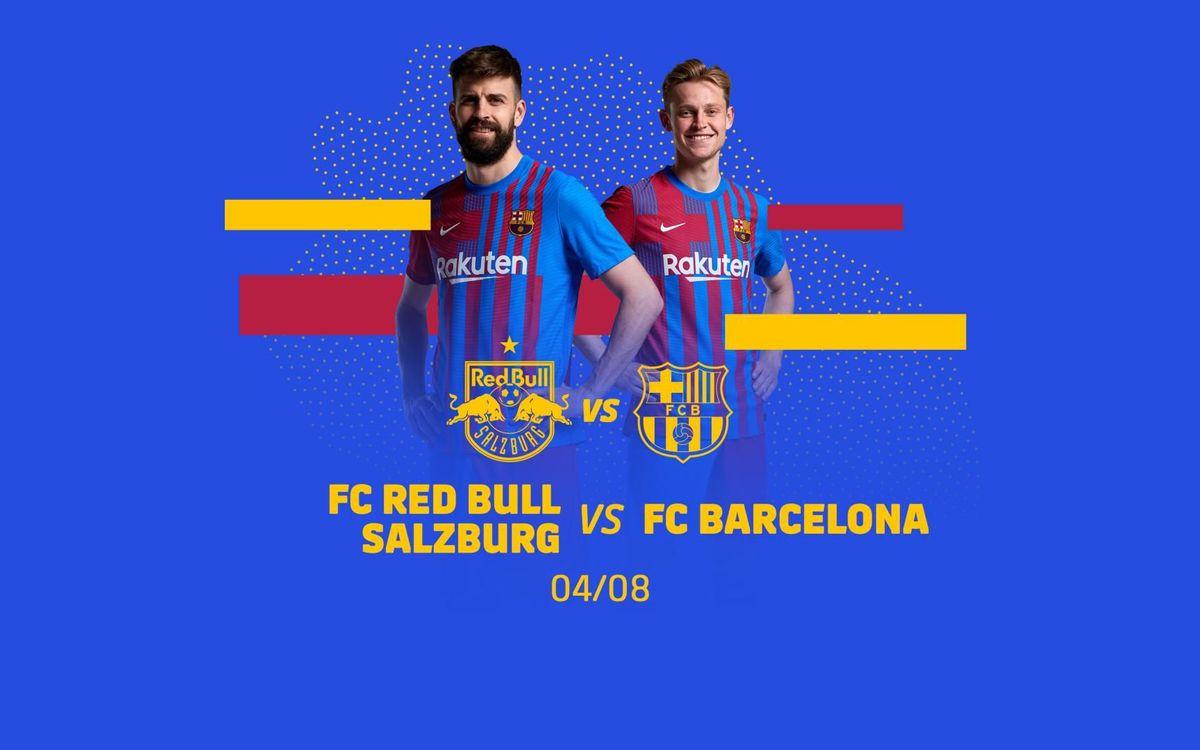 FC Barcelona to play friendly against FC Red Bull Salzburg