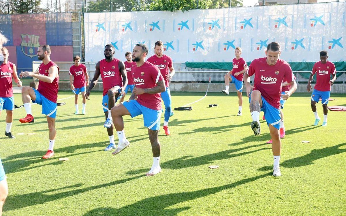 Training continues at the Ciutat Esportiva