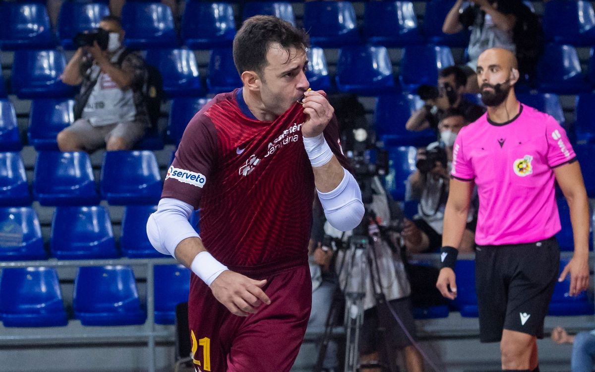 Dídac, premi LNFS al millor porter lliga 2020/21