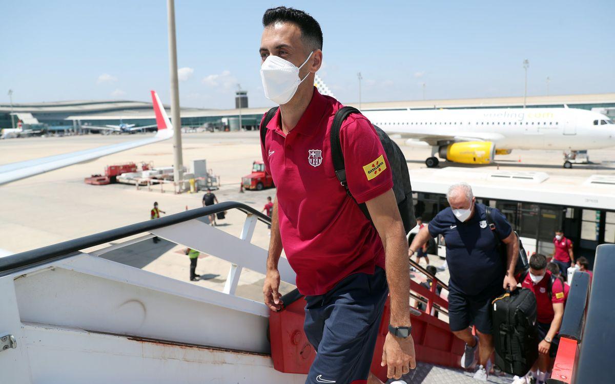 Els equips masculí i femení del FC Barcelona promocionen Catalunya com a destinació turística durant la pretemporada