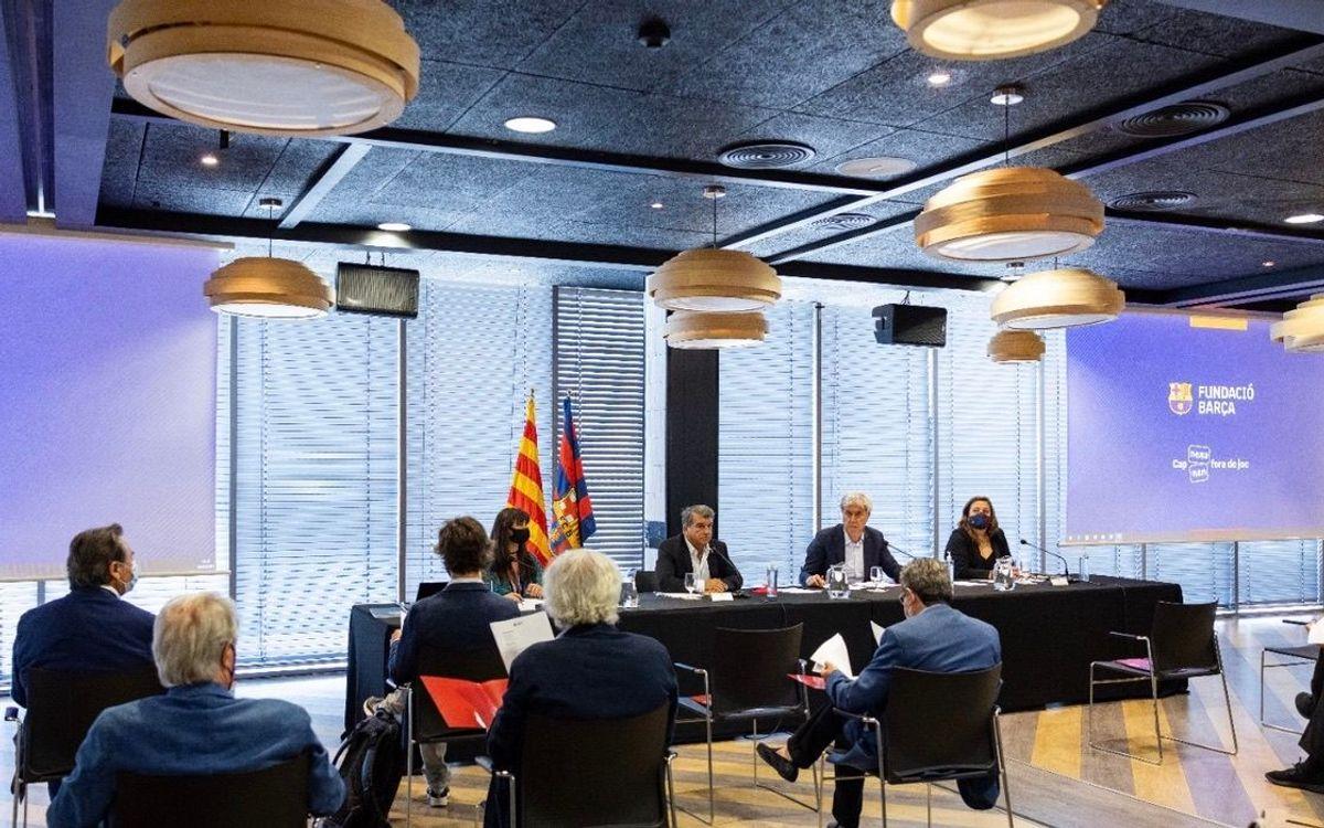 Joan Laporta presideix el seu primer patronat de la Fundació Barça