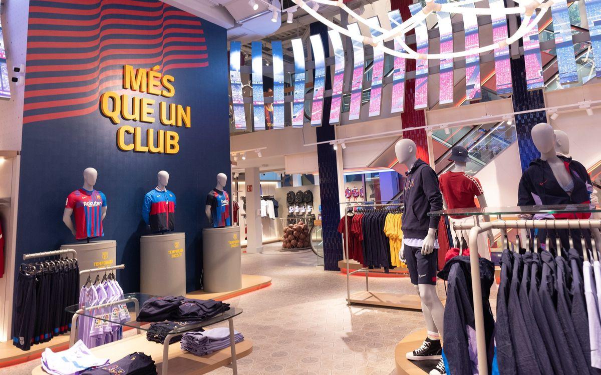 La Barça Store de Canaletas se reabre al público