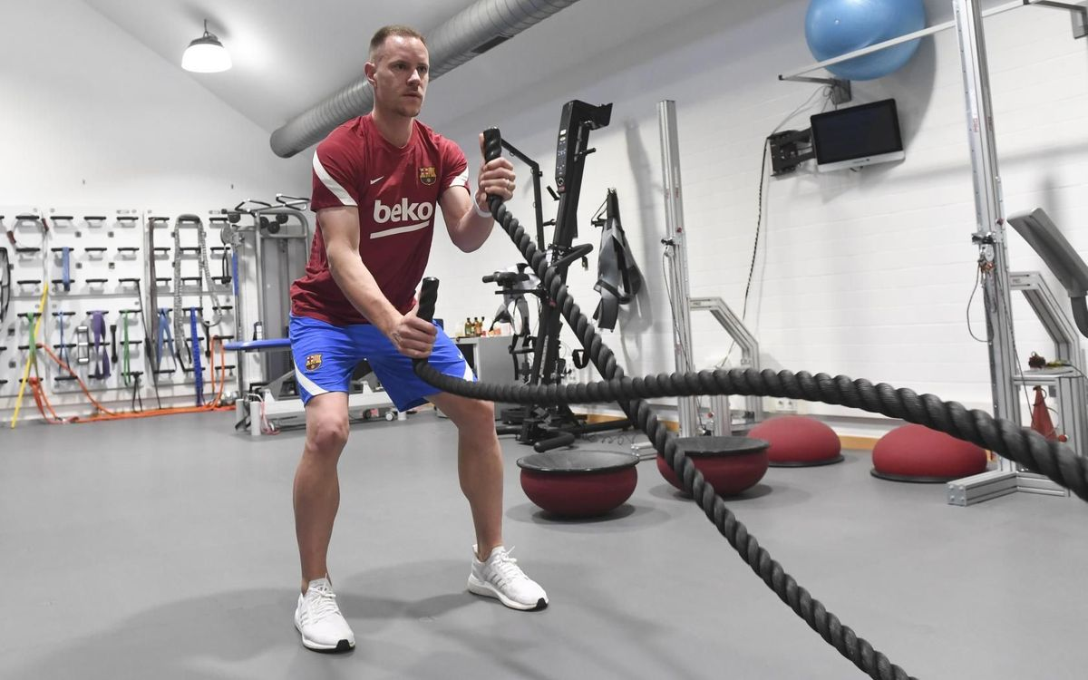Ter Stegen continues his return to fitness