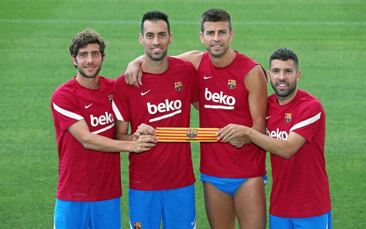 Cuatro capitanes formados en La Masía