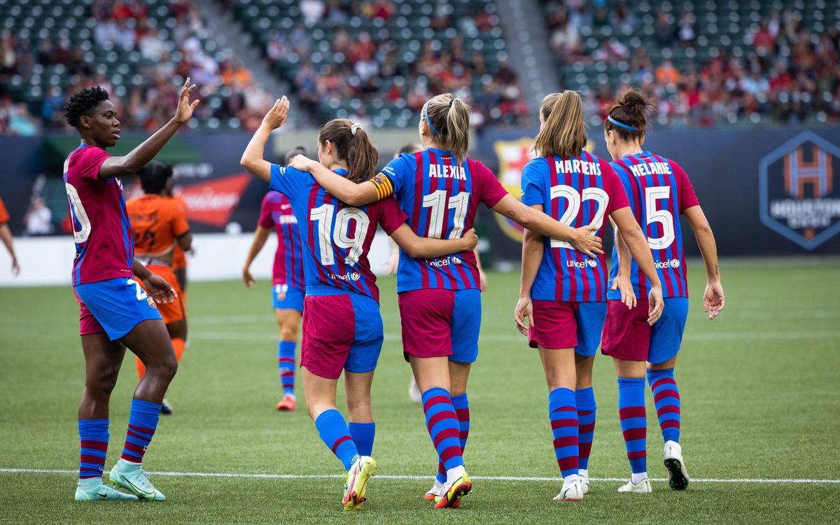 Houston Dash 2-3 FC Barcelona: Late comeback to finish third
