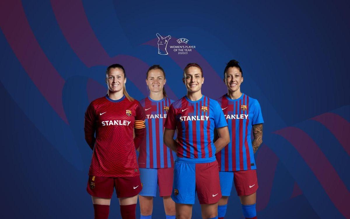Barça dominate the UEFA women's awards