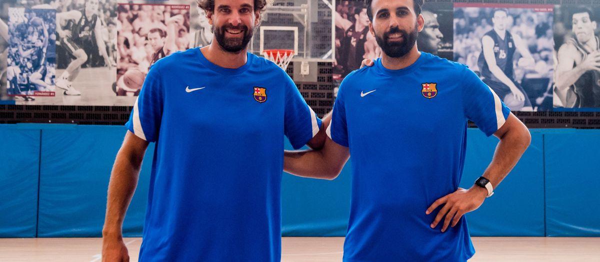 Grimau y Sada, los entrenadores de Barça B y junior
