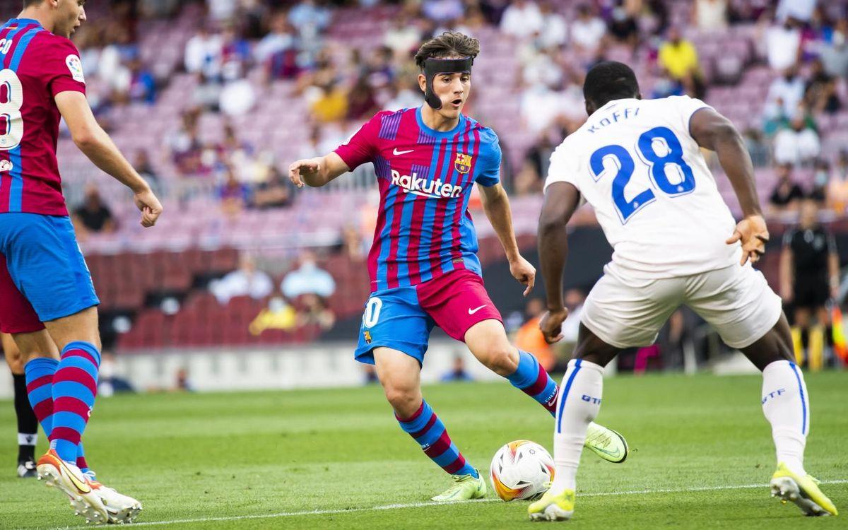 Gavi debuta oficialment amb el FC Barcelona