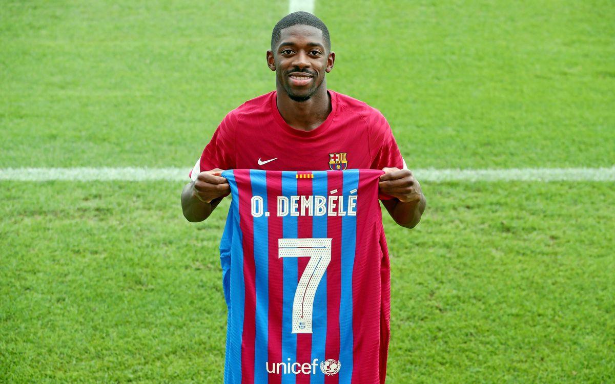 Dembélé gets his number 7