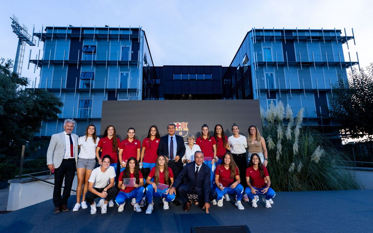 President Laporta opens space dedicated to women's football at La Masia residence