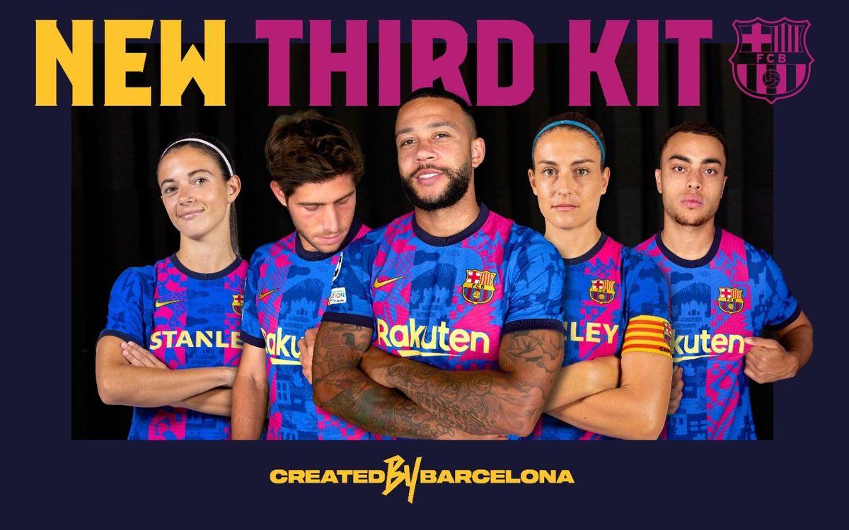 La tercera equipación, inspirada por jóvenes talentos de Barcelona, será exclusivamente para la Champions