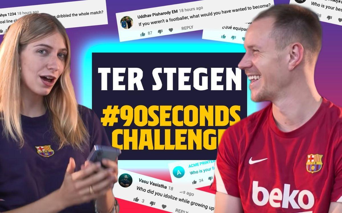 Ter Stegen relève le défi des 90 secondes