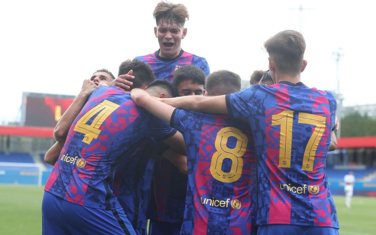 Barça - Bayern de Munic: estrena ideal del Juvenil A (2-0)