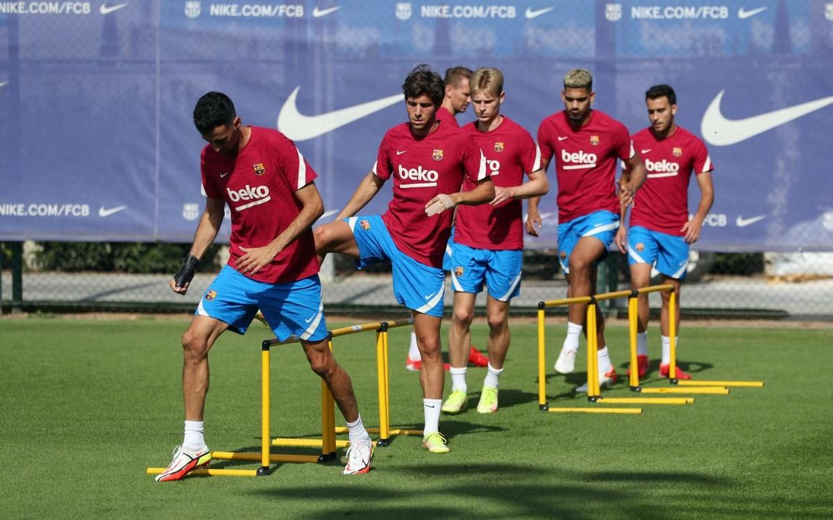 Recovery session at the Ciutat Esportiva