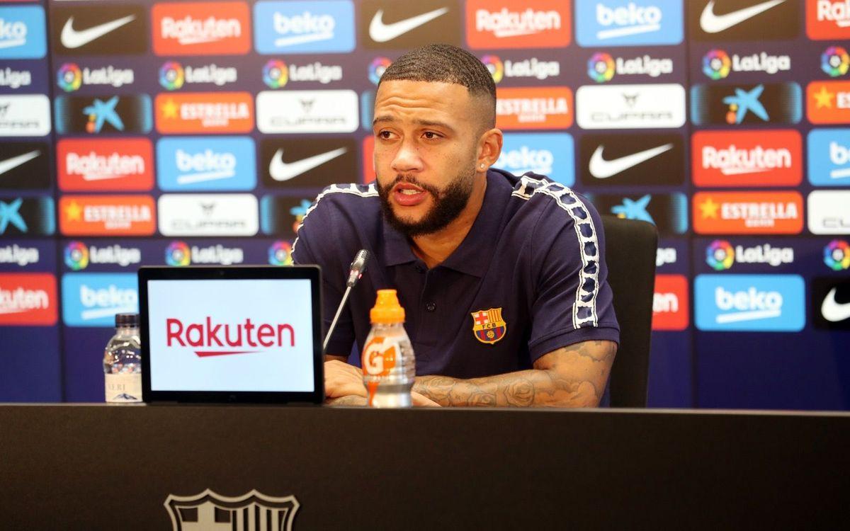 """Memphis: """"Quiero seguir aumentado mi nivel con el FC Barcelona"""""""