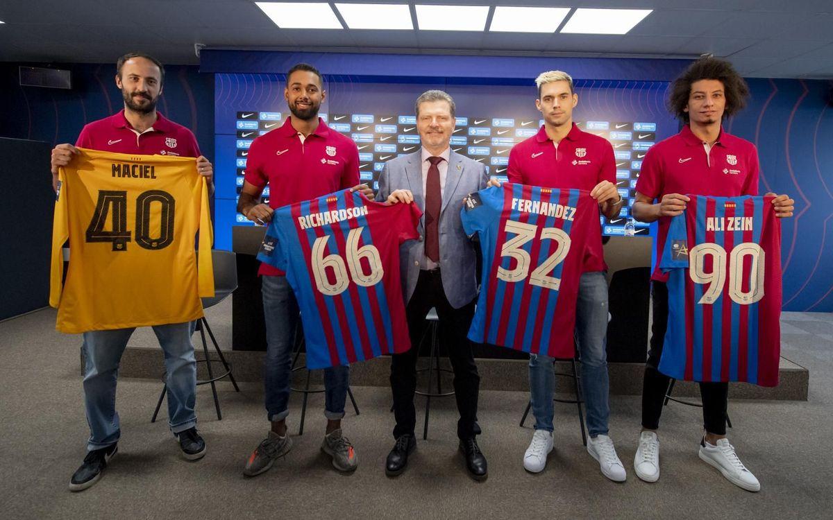Presentades les quatre incorporacions del Barça d'handbol