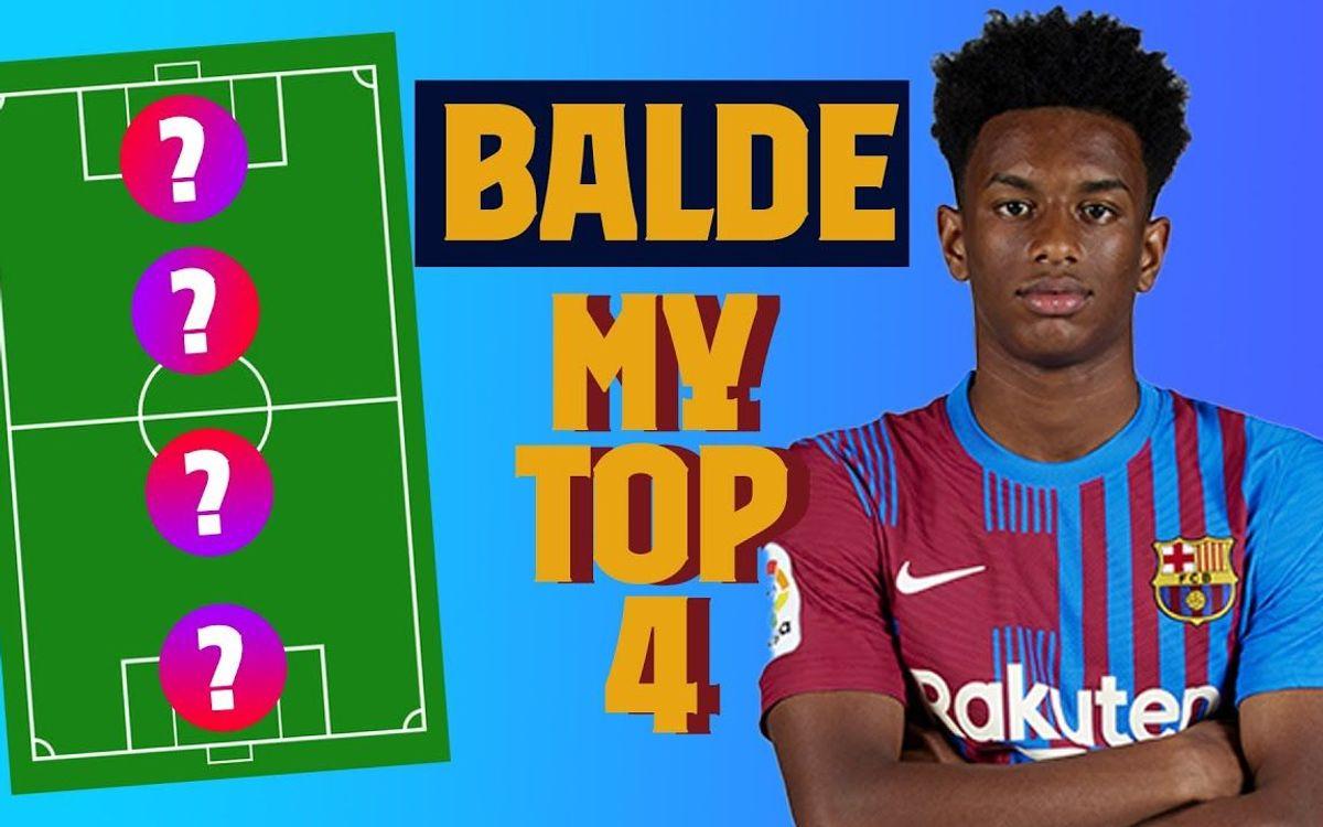 Le top 4 de légendes de Balde