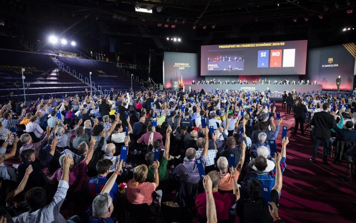 El Palau Blaugrana acogerá la Asamblea General del FC Barcelona el domingo 17 de octubre