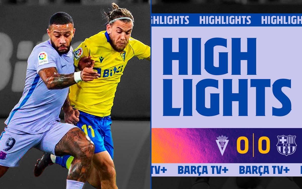 Les moments forts de Cadix - Barça (0-0)