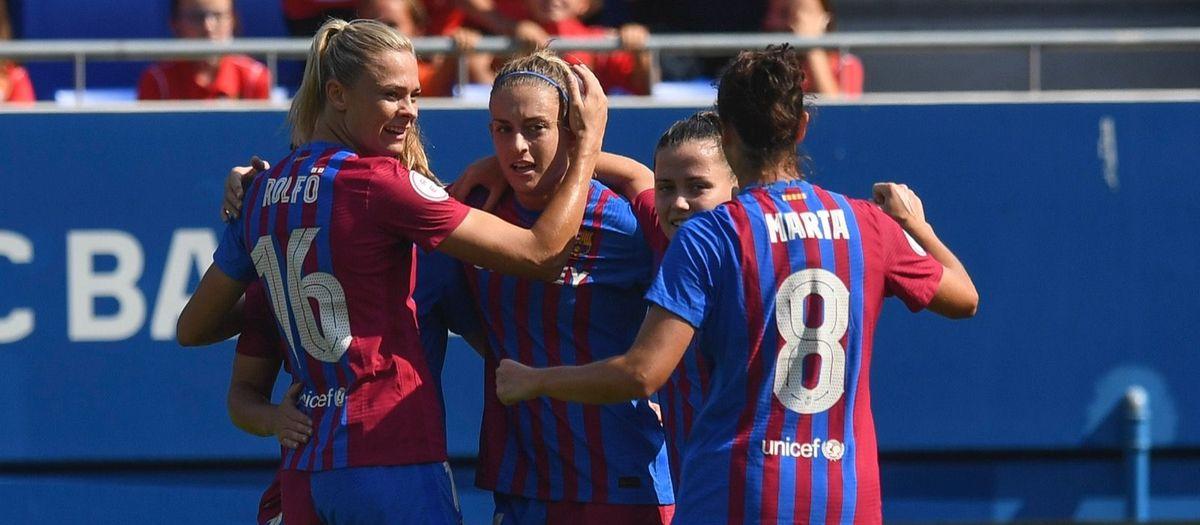 FC Barcelona Femení - València: Golejada exprés (8-0)