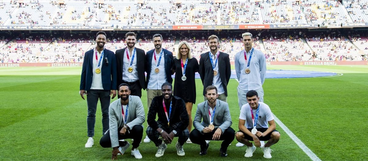Camp Nou pays tribute to Barça's Olympic medallists