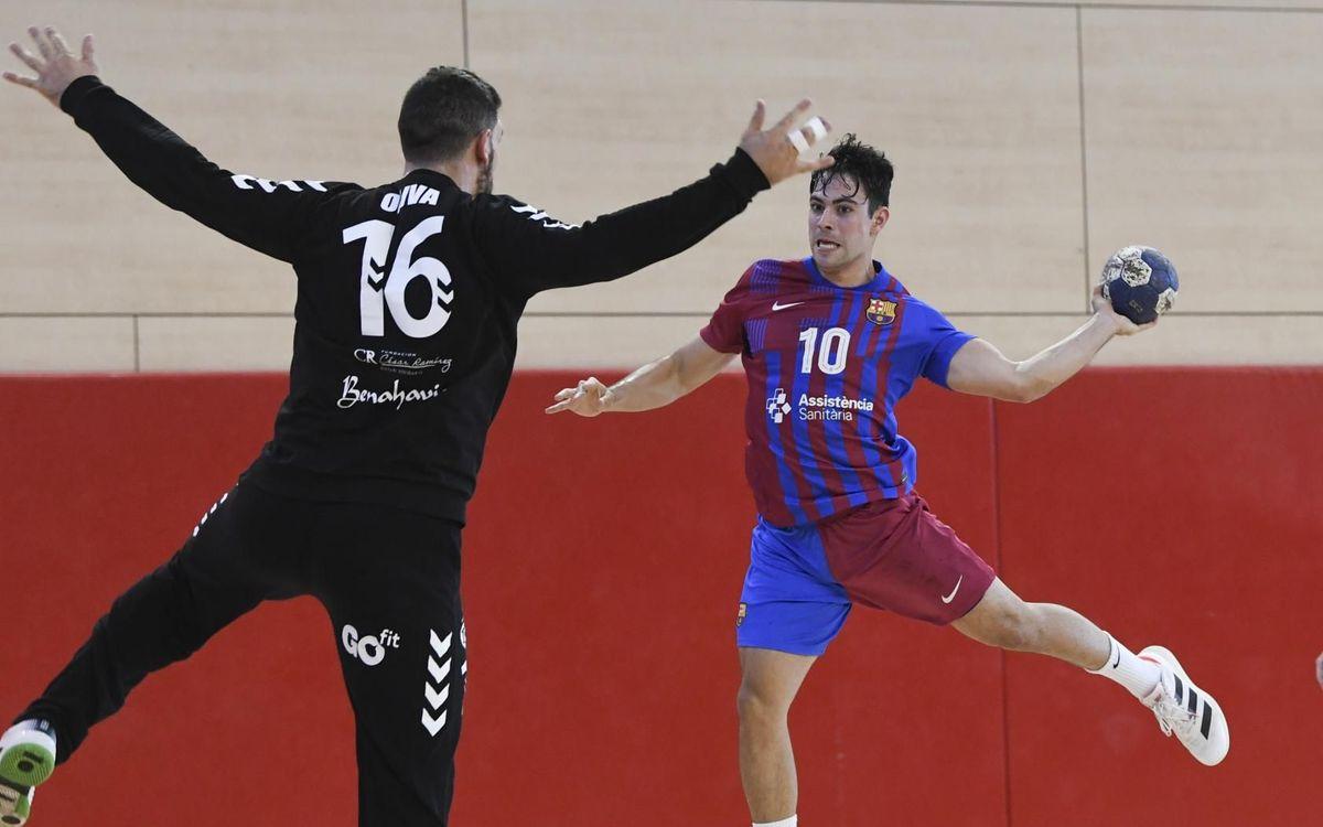 Barça B - Trops Màlaga: Debut amb victòria (23-21)