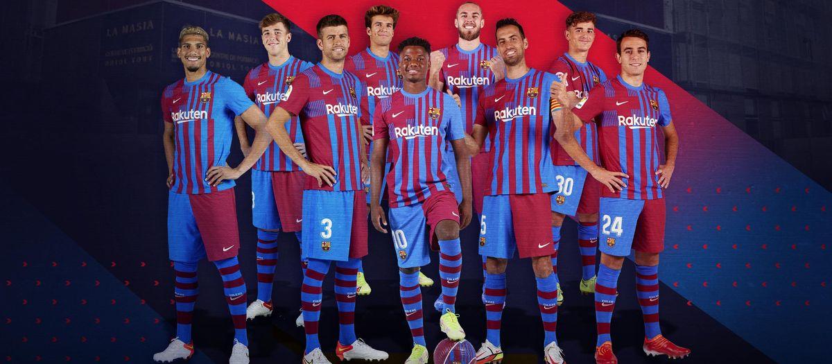 Nueve jugadores de la Masia contra el Levante