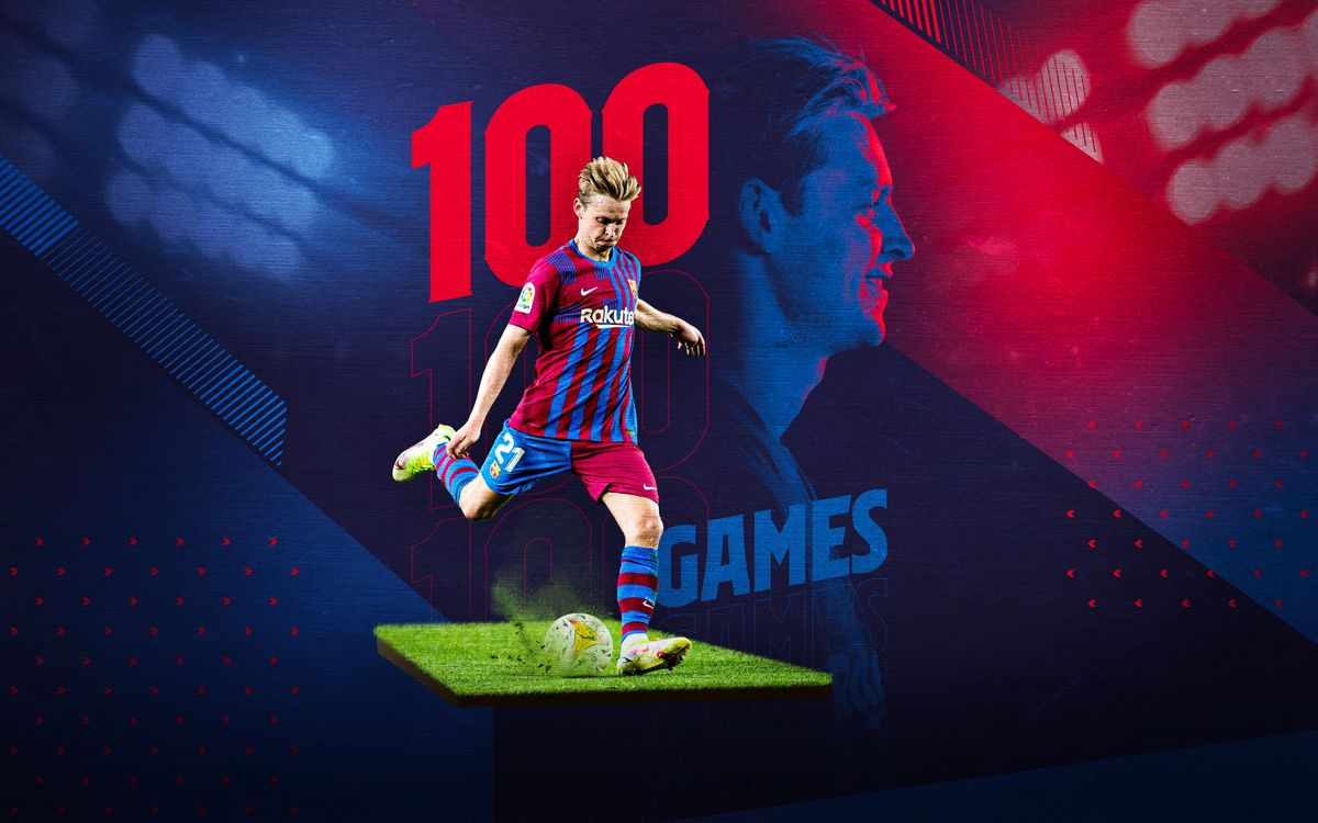 First century of appearances for De Jong