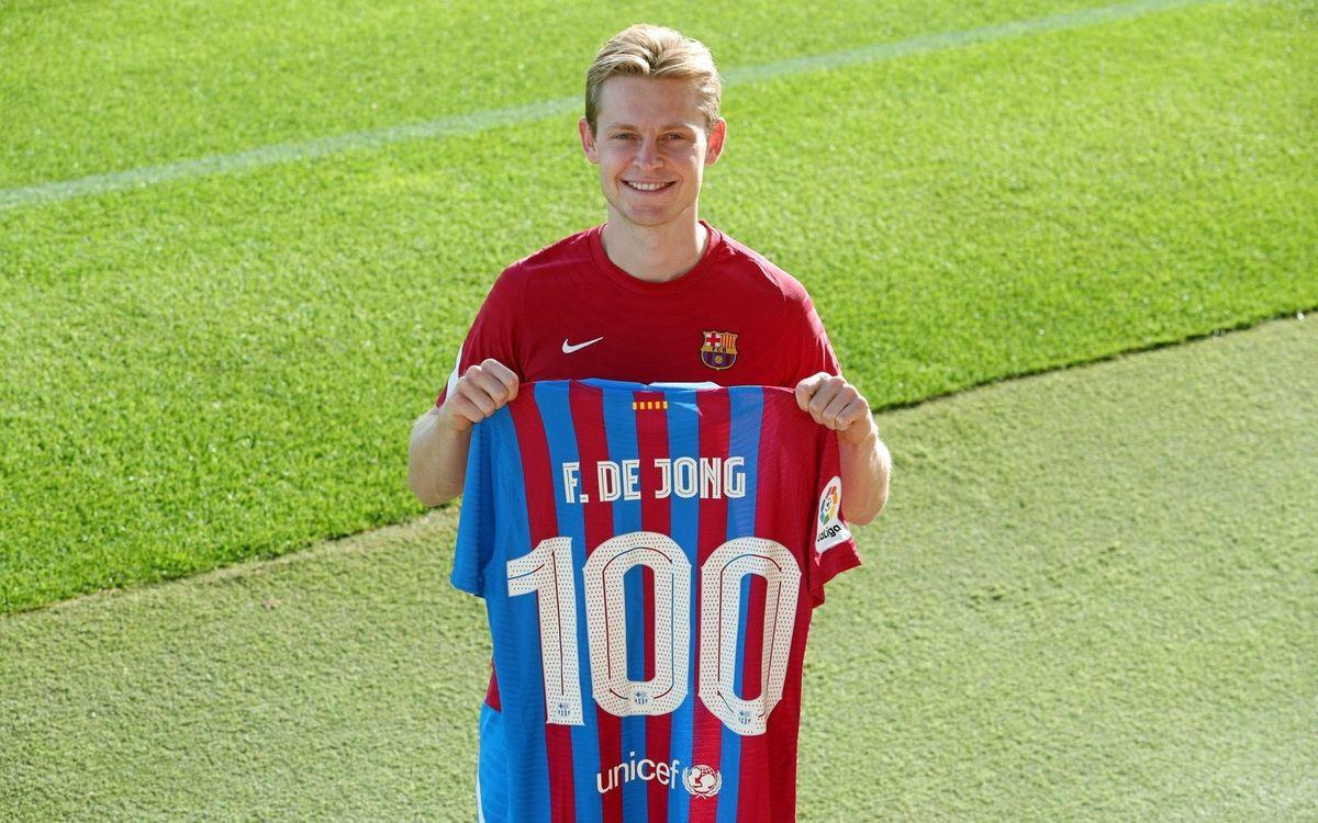 Frenkie de Jong 'proud to play 100 games'