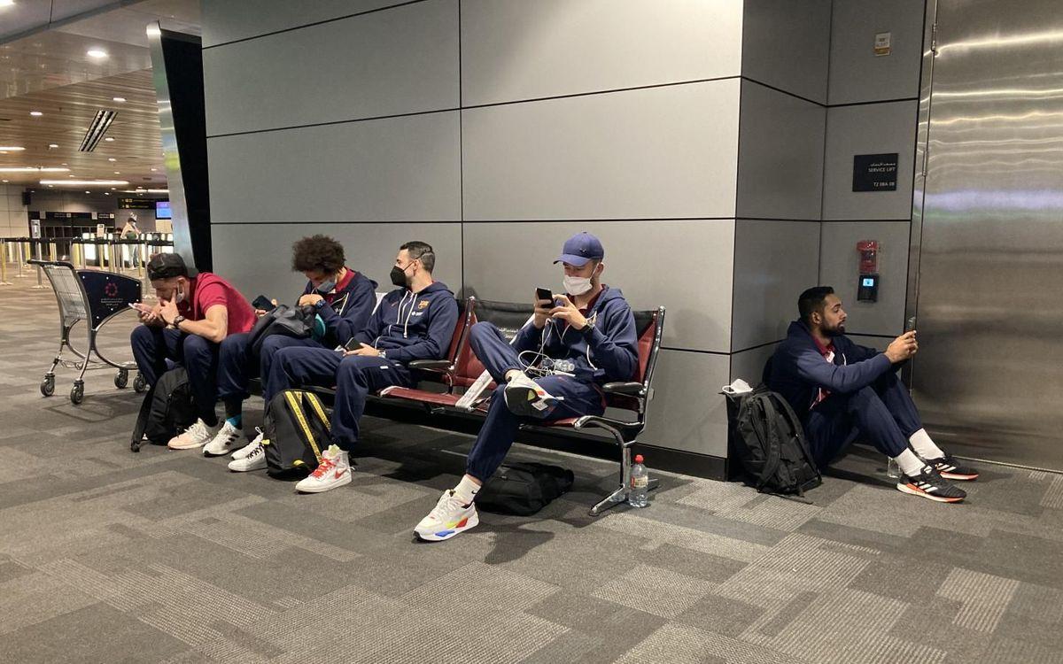 FC Barcelona Handball team arrive in Jeddah