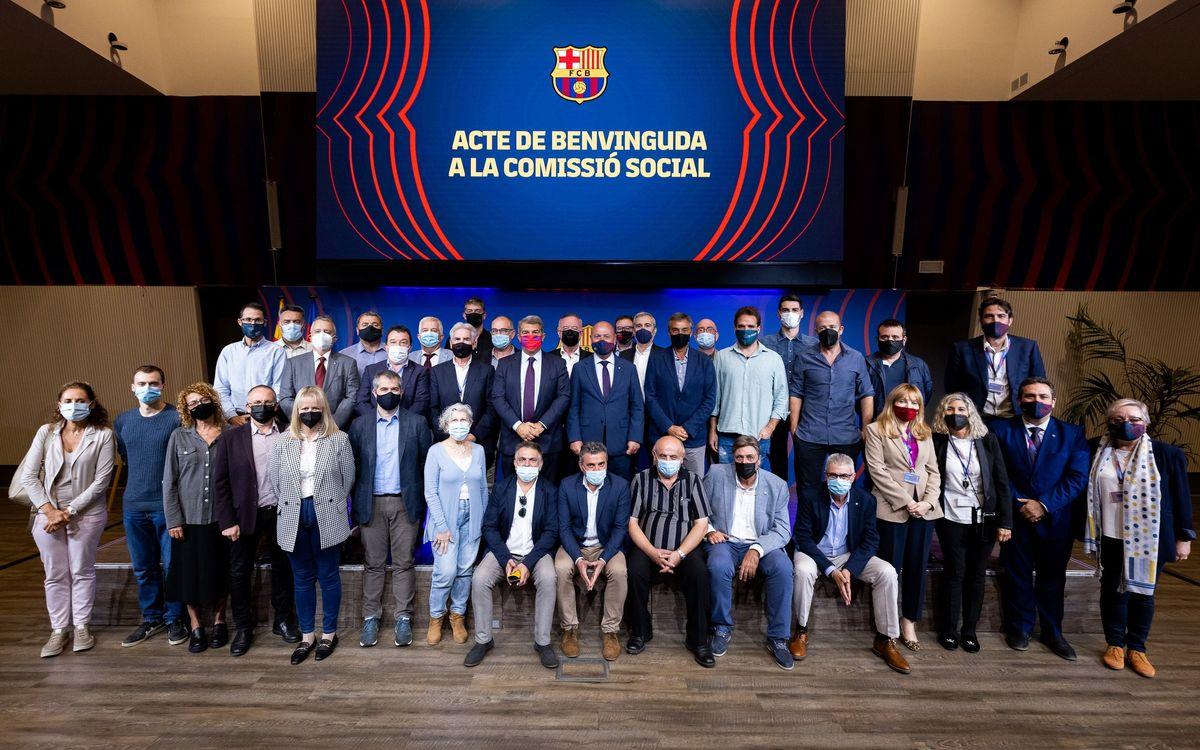 Constitución de la nueva Comisión Social del FC Barcelona
