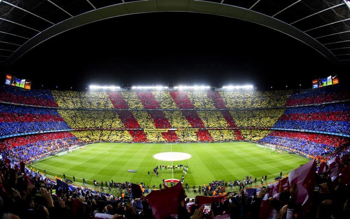 Vuelve el aforo completo al Camp Nou