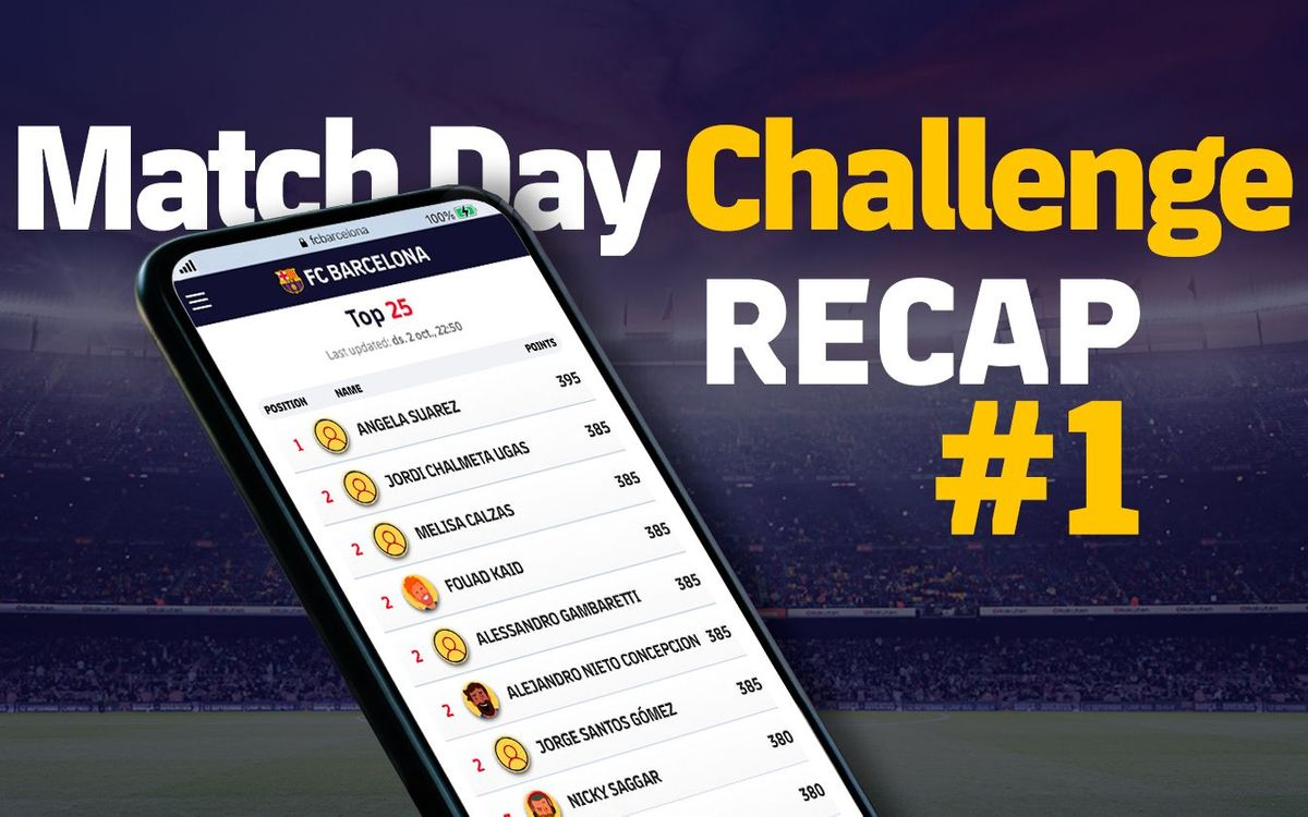 Match Day Challenge Recap #1