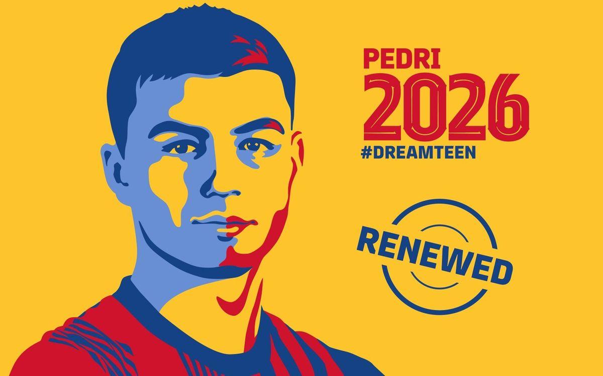 Pedri prolonge au Barça jusqu'en 2026